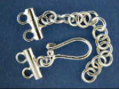 K 34A double strand clasp  w/ chain